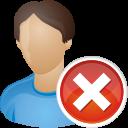 user remove icon