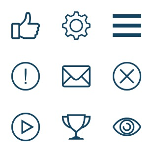 Evil User Interface icon sets preview
