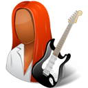 Dark, Female, Guitarist icon