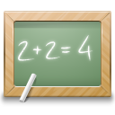 education, school, math, calculate, blackboard icon