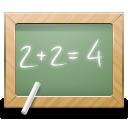 education, school, math, calculate, blackboard icon