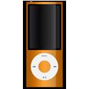ipod, apple, orange icon