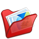 folder,red,mypictures icon