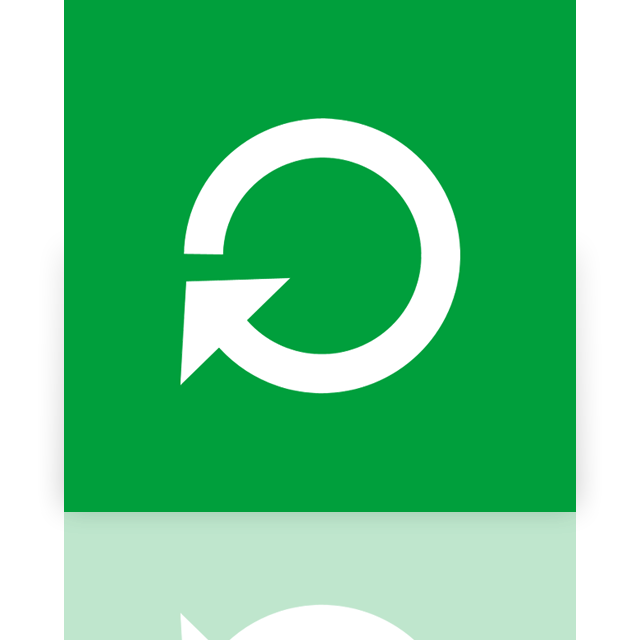 mirror, restart, power icon