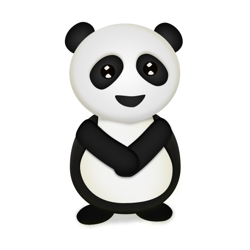 bear, panda, animal, trans icon