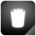 trashcan,full,glow icon