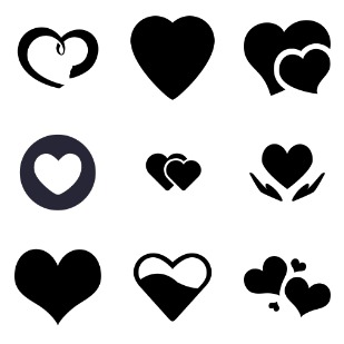 Love & Heart icon sets preview