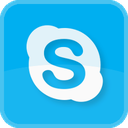 social media, social, speak, talk, skype, square icon