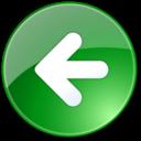 previous,backward,left icon