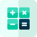 math, operation, calculator icon