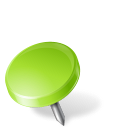 Map Marker Drawing Pin Left Chartreuse icon