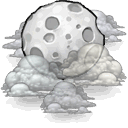 night, cloudy icon