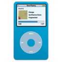 ipod,video,blue icon