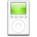 mp3 player, ipod, green icon