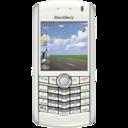 BlackBerry Pearl white icon