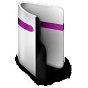 purple, folder icon