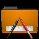 orange,folder,txt icon