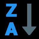 alphabetical sorting za icon