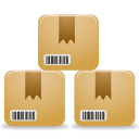 inventory, boxes, customers, products icon