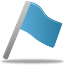 Flag blue icon