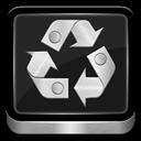 Full, Metallic, Recycle icon