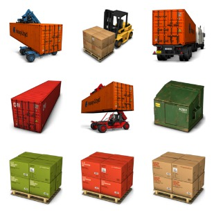 Container 2 icon sets preview