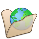 folder, internet, beige icon
