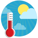 temerature, sunshine, weather, thermometer, celcius, farenheit, clouds icon