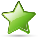Bookmark, Green, Star icon