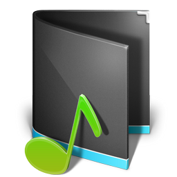 music, black, alta, folder icon