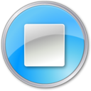 stop,pressedblue,button icon