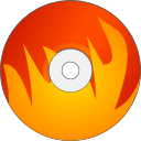 burn, fire, disk icon