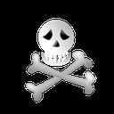 bone, scary, halloween icon