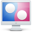 flickr, computer, display, social, monitor, screen icon