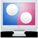 flickr, computer, display, social, monitor, screen icon