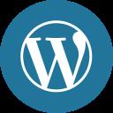 round, circle, cms, wordpress, blog icon