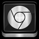 Chrome, Google, Metallic icon