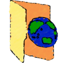 earth,folder icon