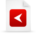 red, paper, file, document icon