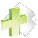 Add, Green, Paper icon