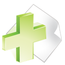paper, add, green icon