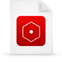 red, paper, document, file icon