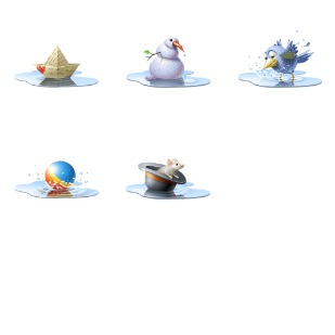 Pool icon sets preview
