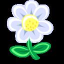 white,flower,plant icon