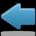 previous, prev, left, blue, backward, arrow, back icon