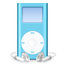 mp3 player, mini, blue, ipod icon