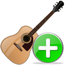 guitar,add,instrument icon