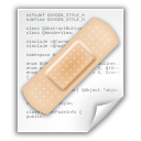 document, text, file, patch icon