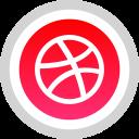 logo, media, social, dribbble icon