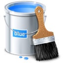 Blue, Bucket, Color, Design, Paint icon